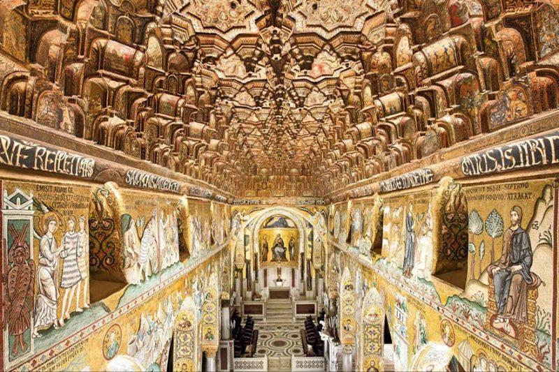 Il soffitto ligneo della Cappella Palatina